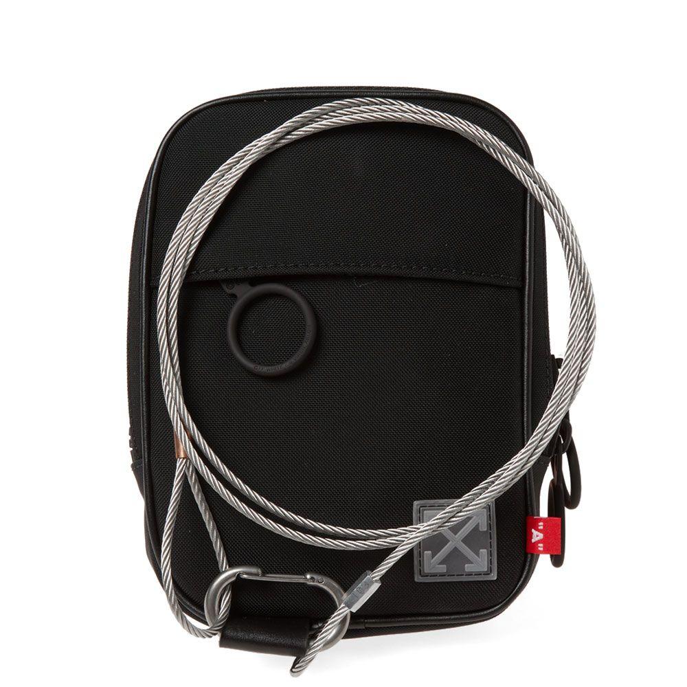 f8ea66fa17323 Off-White Tape Mini Crossbody Bag Black