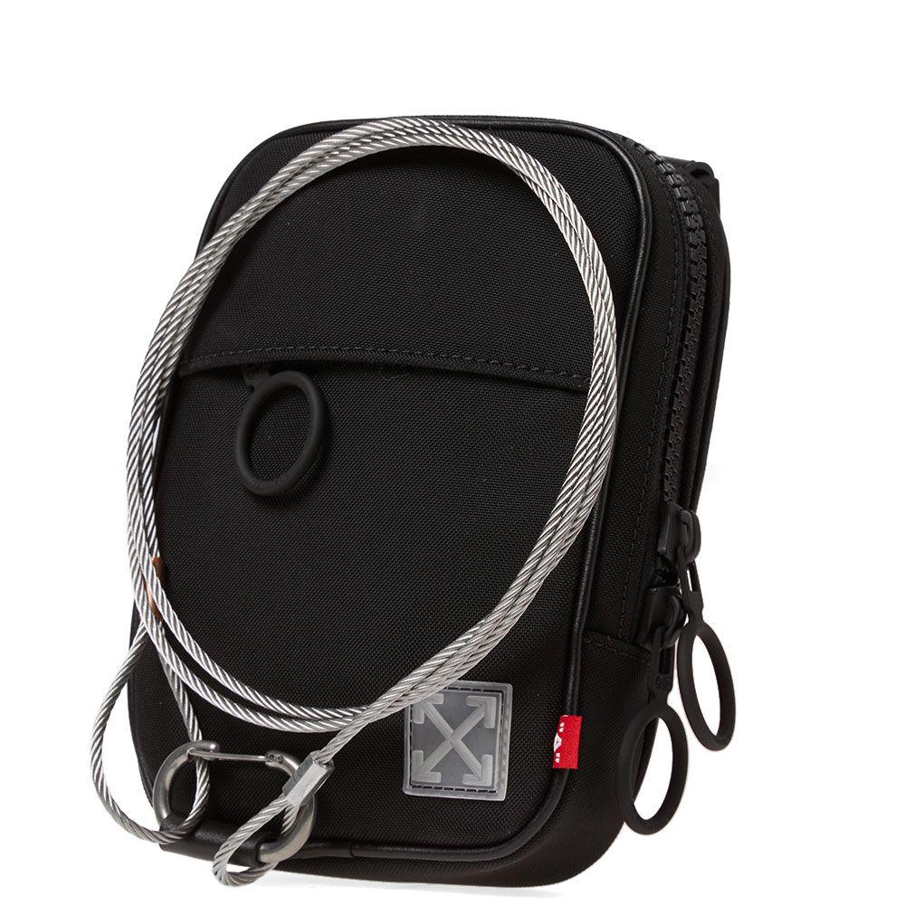 88717b536cc9 Off-White Tape Mini Crossbody Bag Black