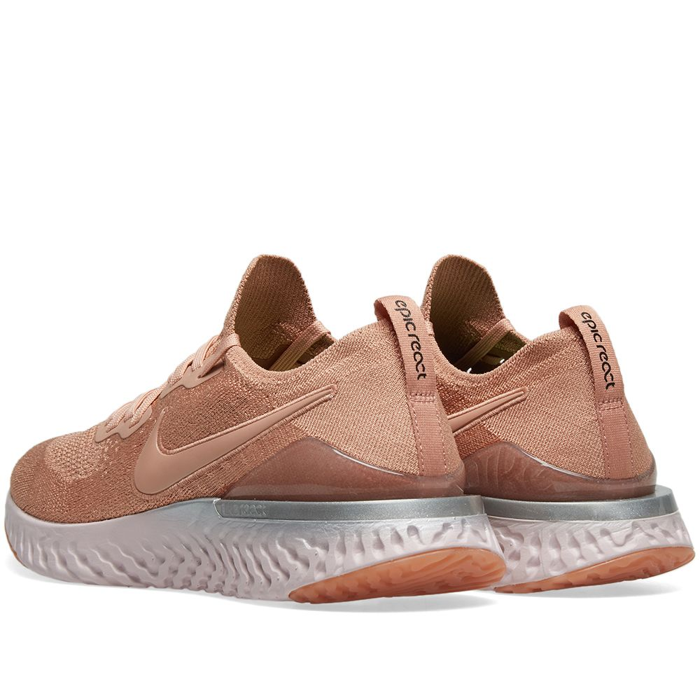 b93663e5757b94 Nike Epic React Flyknit 2 Rose Gold   Barely Rose