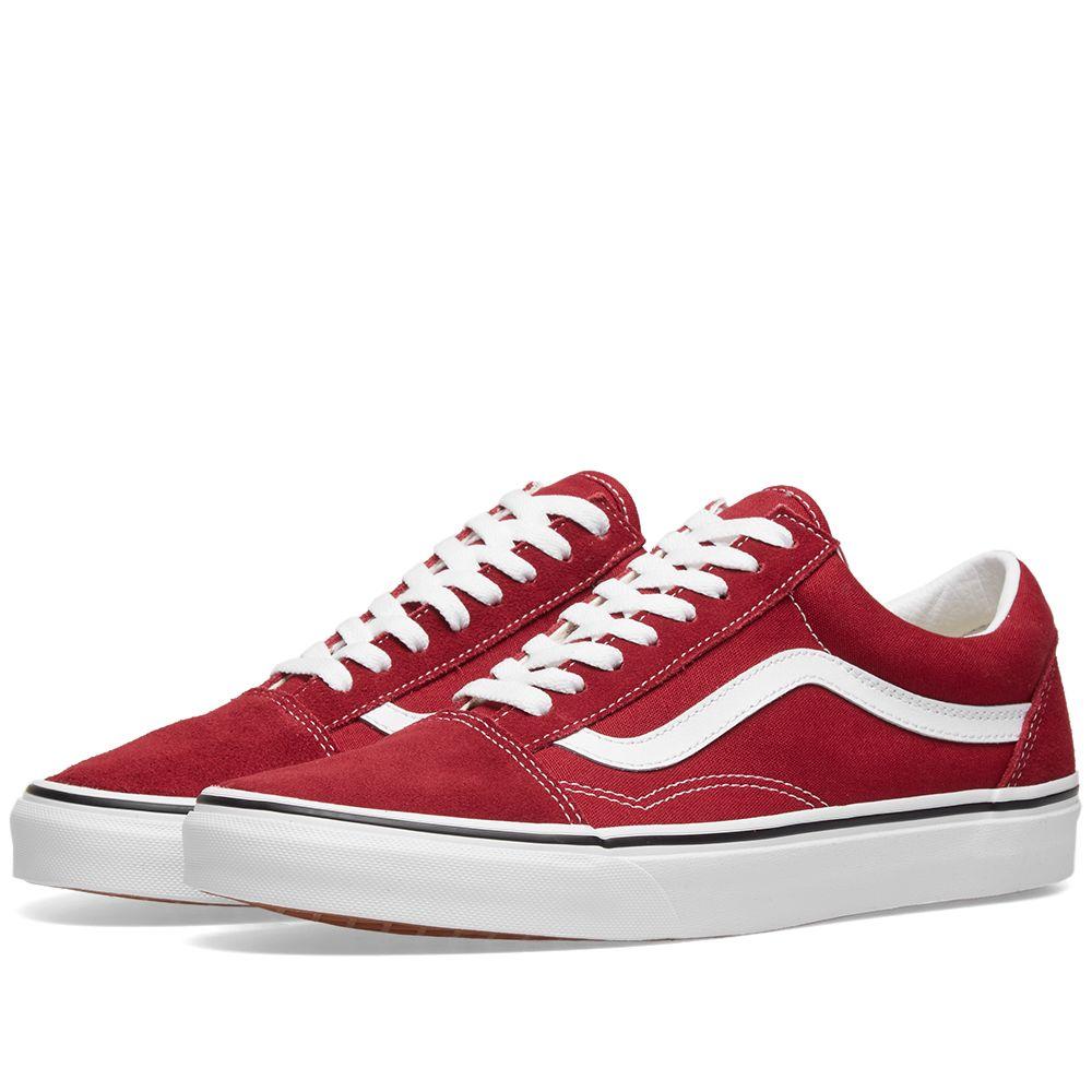 8d88949be58177 Vans UA Old Skool Rumba Red   True White