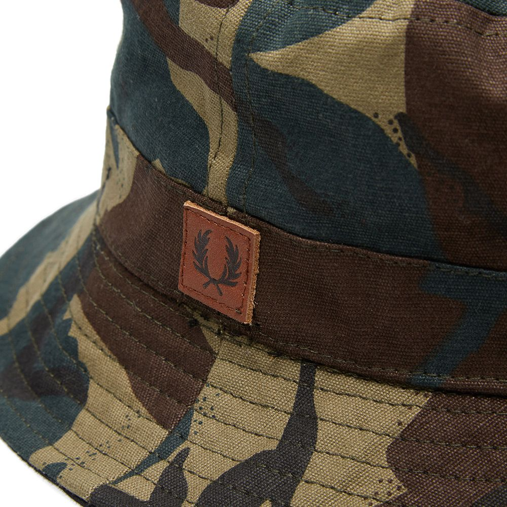 5bb4e4a0a85 Fred Perry Reversible Bucket Hat Camo   Black