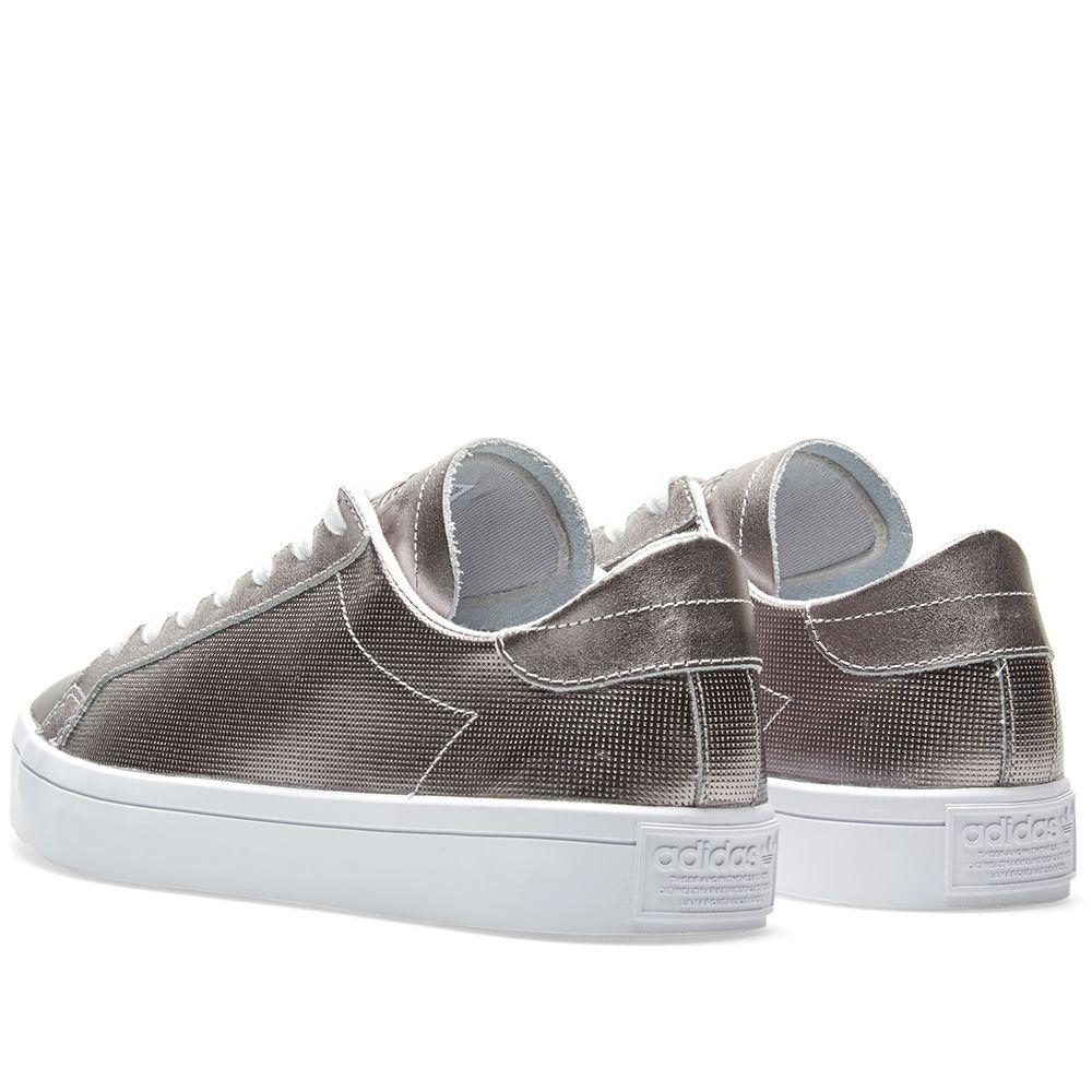 size 40 48271 d5d11 Adidas Womens CourtVantage W Silver  END.