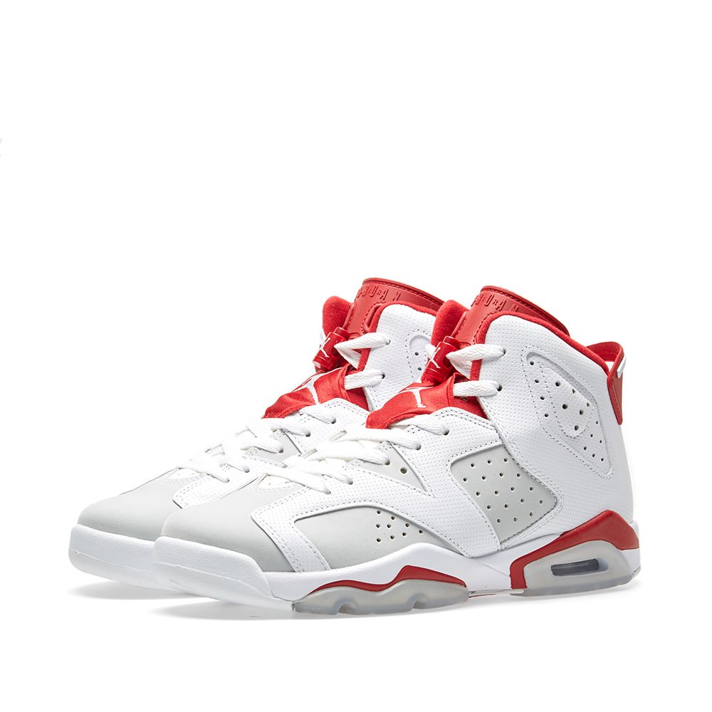 32a54597a82 Nike Air Jordan 6 Retro BG 'Alternate' White, Gym Red & Pure ...