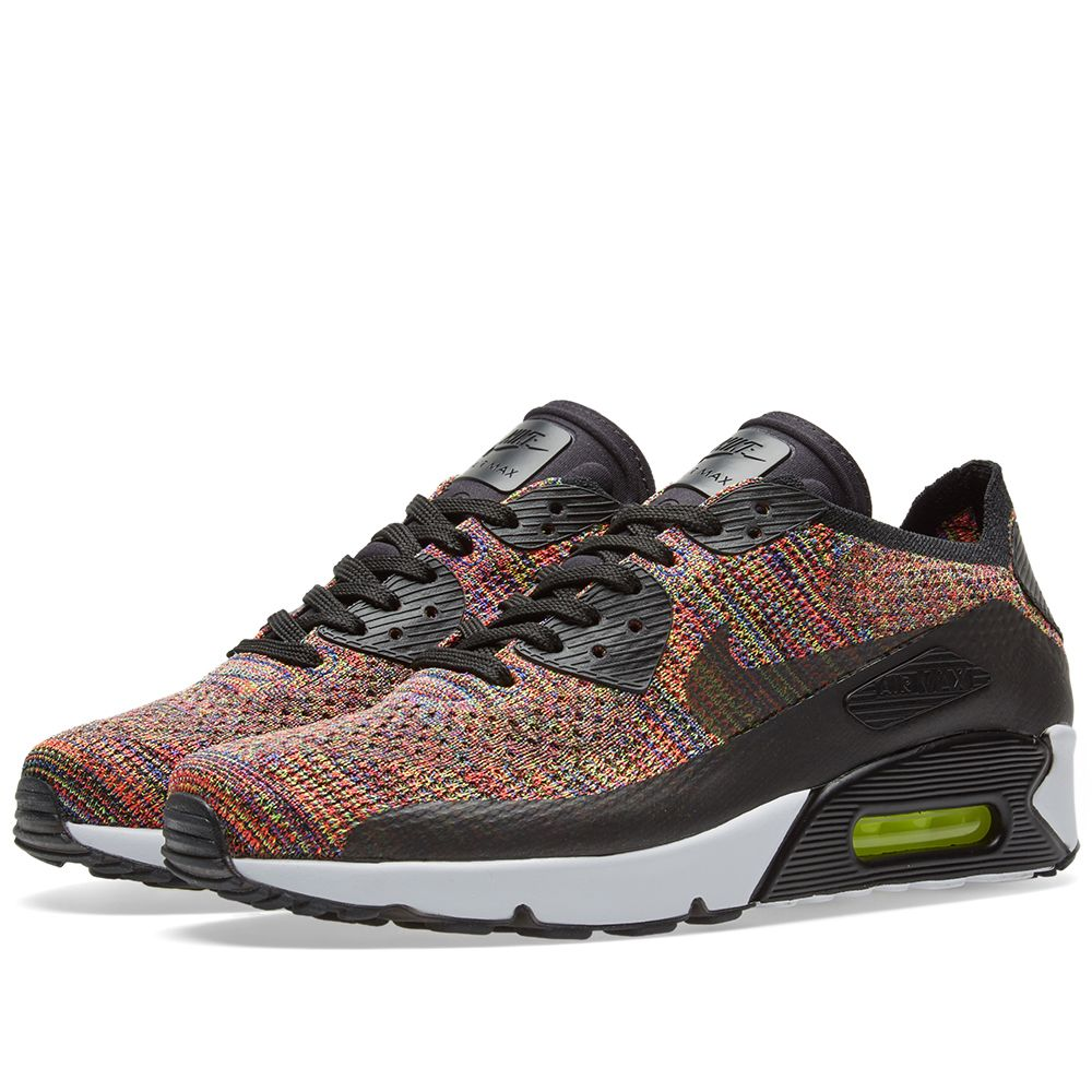 eab3f08b054 Nike Air Max 90 Ultra 2.0 Flyknit. Black   Bright Crimson. £125 £79