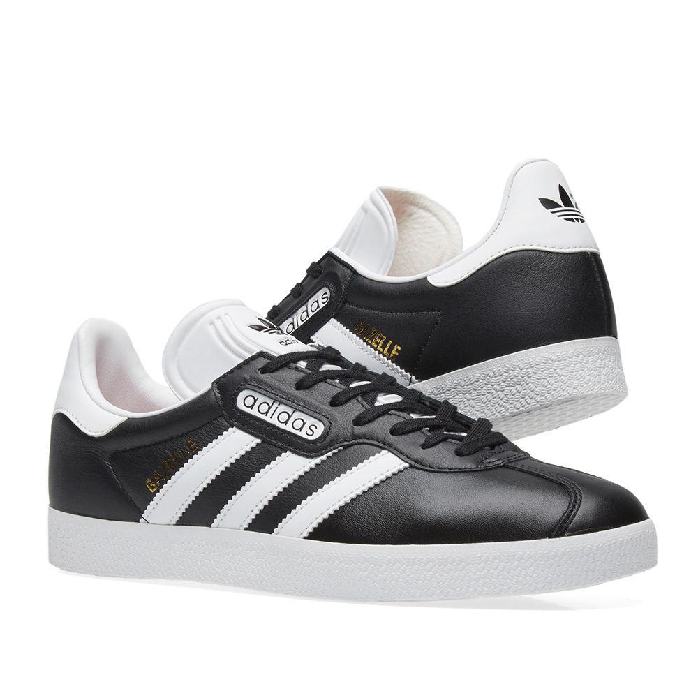 best service aac70 1842b Adidas Gazelle Super Essential. Black  White