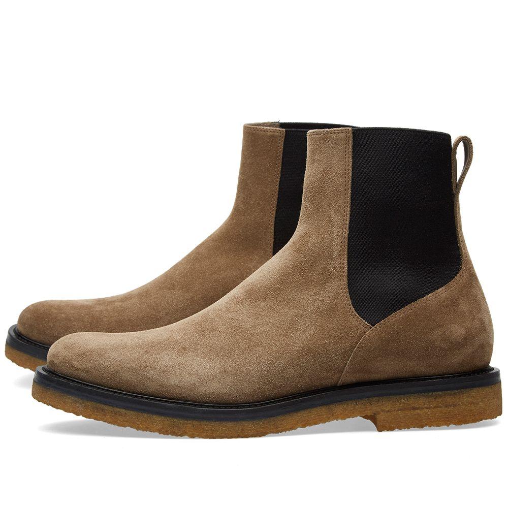 5ce64b2e56952f Dries Van Noten Crepe Sole Chelsea Boot Sand Suede