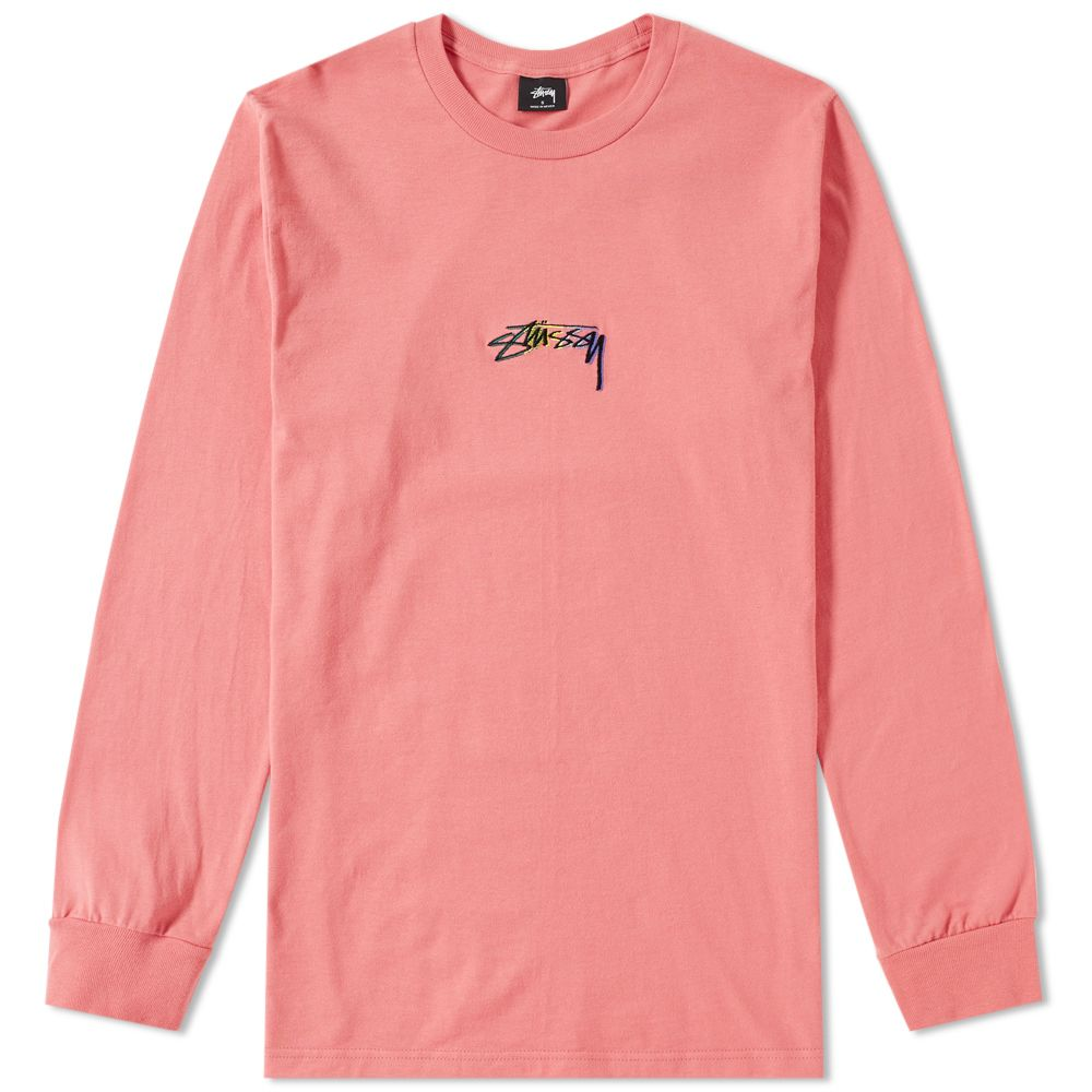 139debb9 Stussy Long Sleeve Smooth Stock Tee. Dark Pink. AU$69. image