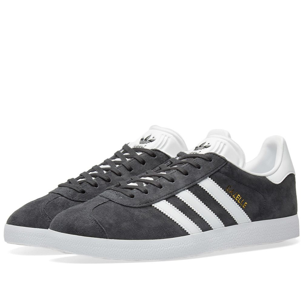 best service db66a 95a10 Adidas Gazelle Solid Grey  White  END.