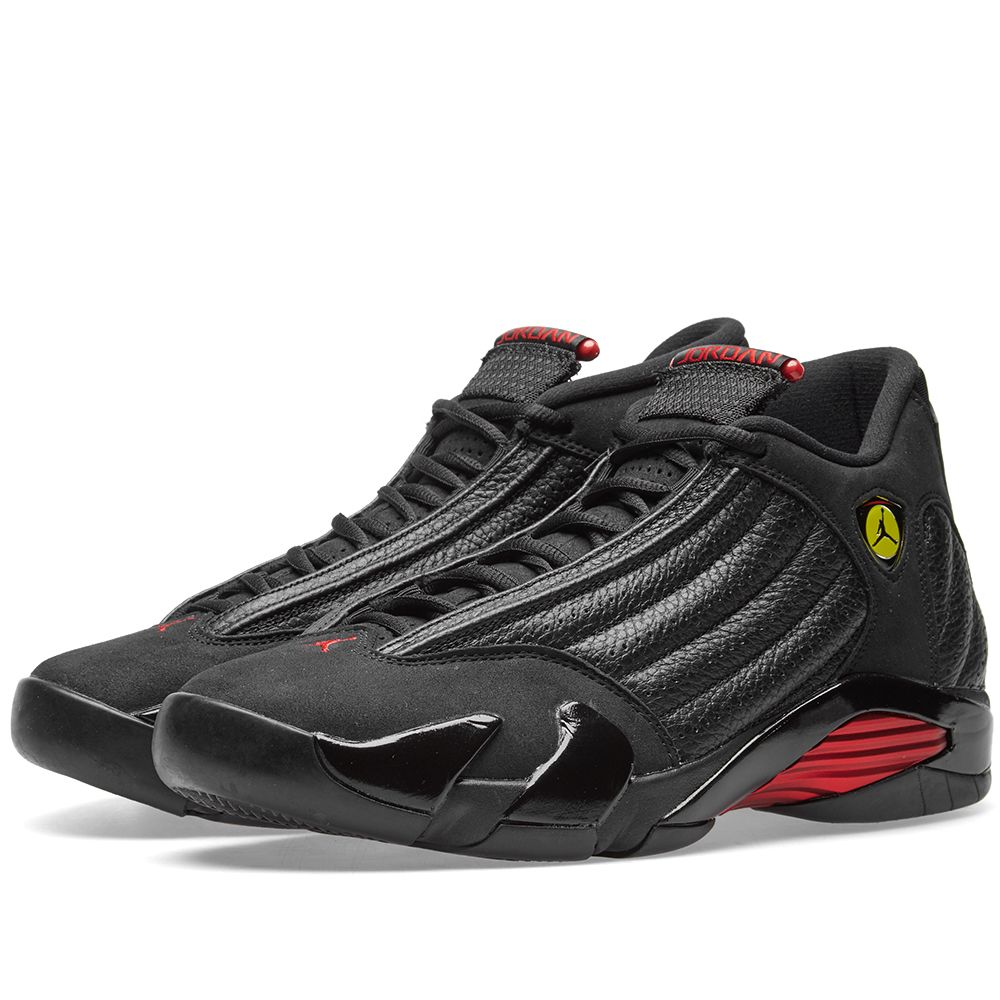 36bd308dae99 Air Jordan 14 Retro Black   Varsity Red