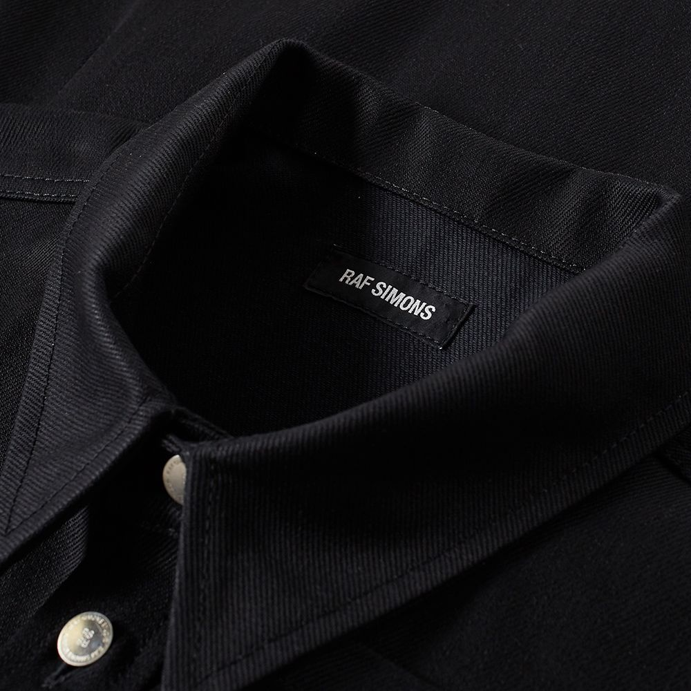 ec0c34c36f Raf Simons Logo Patch Denim Overshirt Black