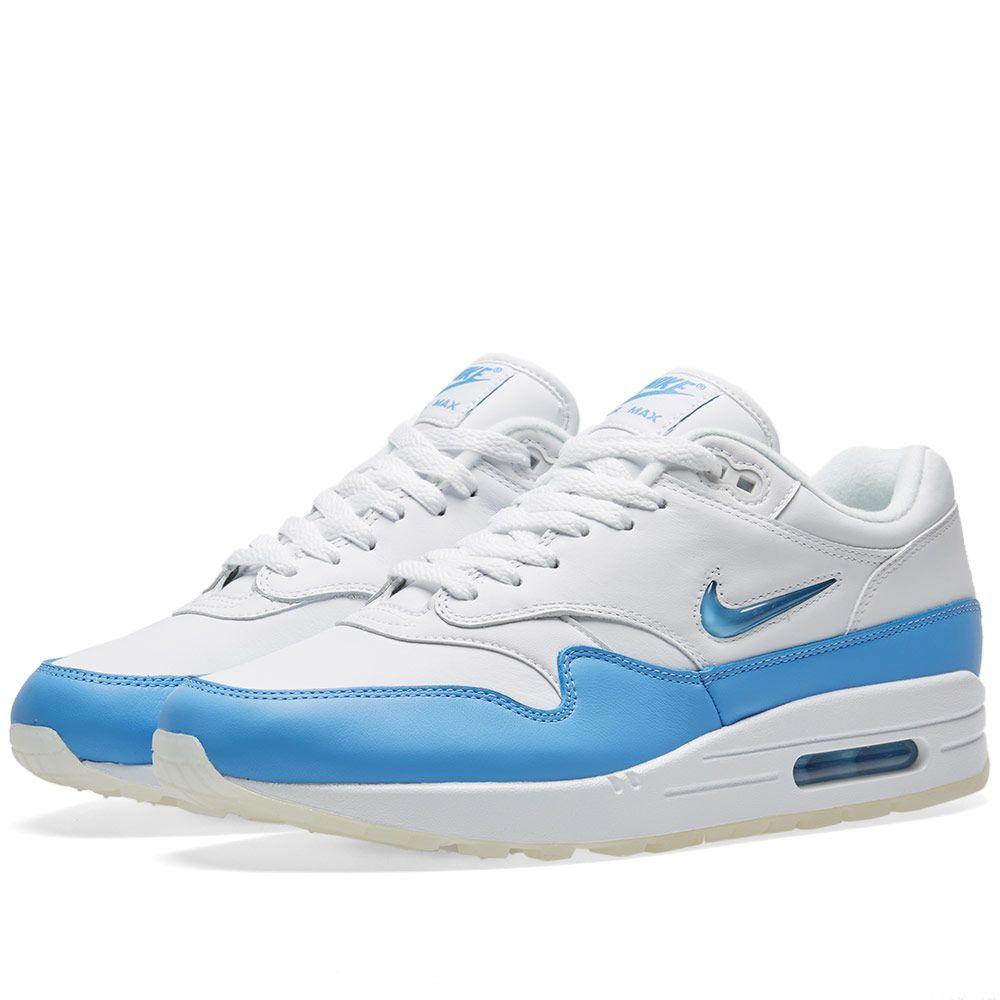 premium selection 1abb4 c3bfb Nike Air Max 1 Premium SC White   University Blue   END.