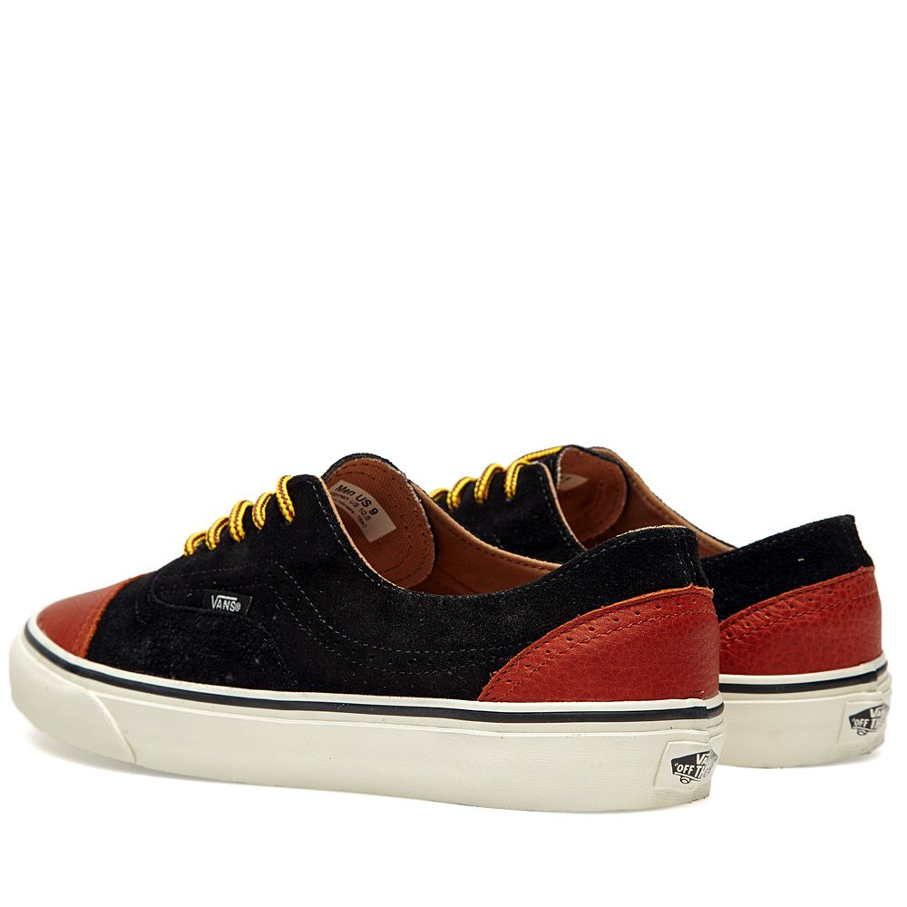 534e54a18387ca Vans California Era Brogue CA 2 Tone Black   Henna