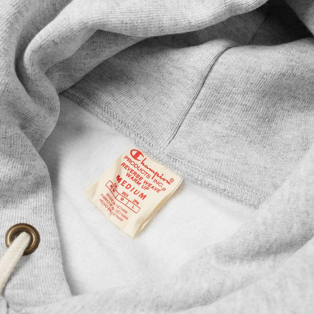 961f65e55f86 Champion Reverse Weave Women s Logo Script Hoody Grey Melange