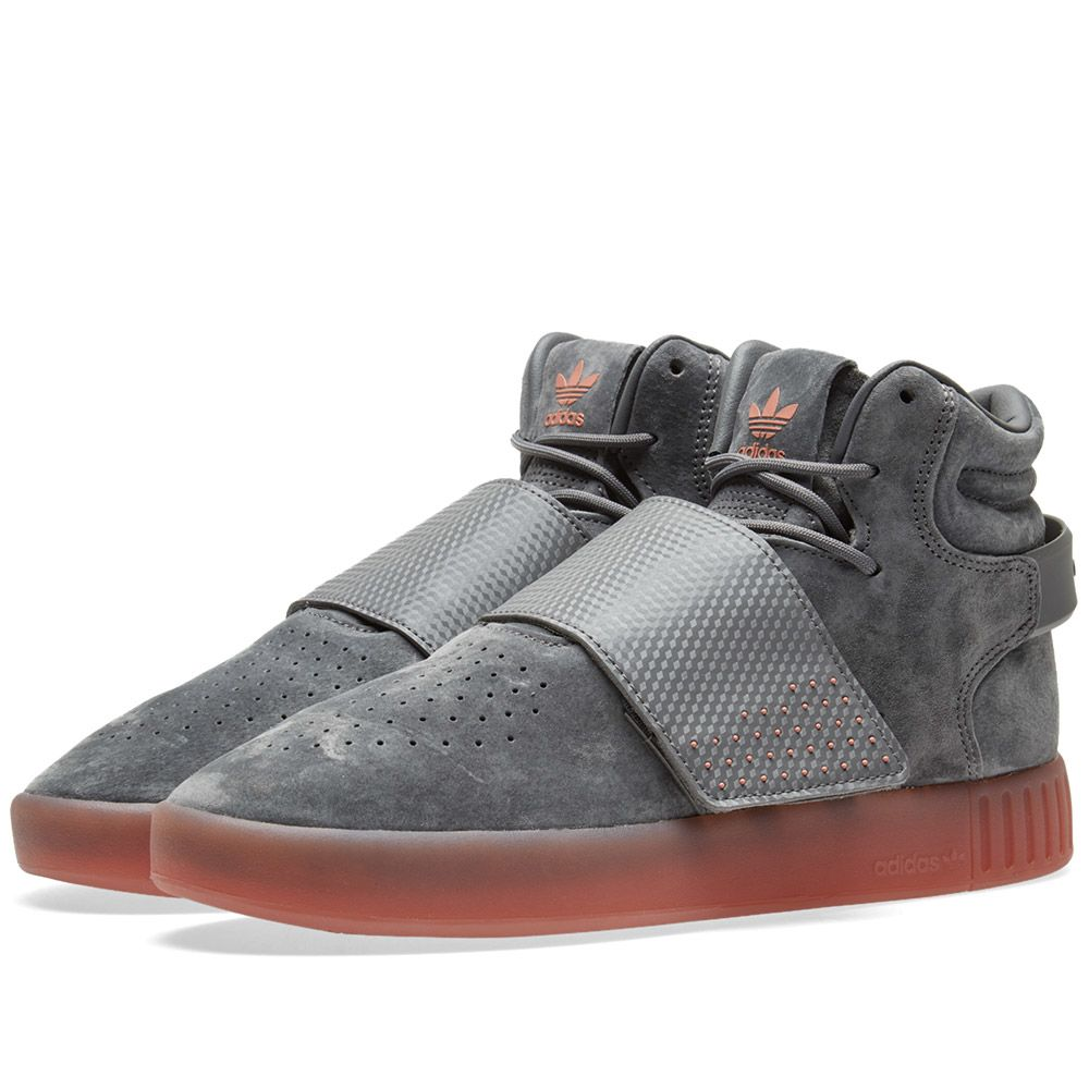 7b4ef9ff8539 Adidas Tubular Invader Strap Grey Four   Raw Pink
