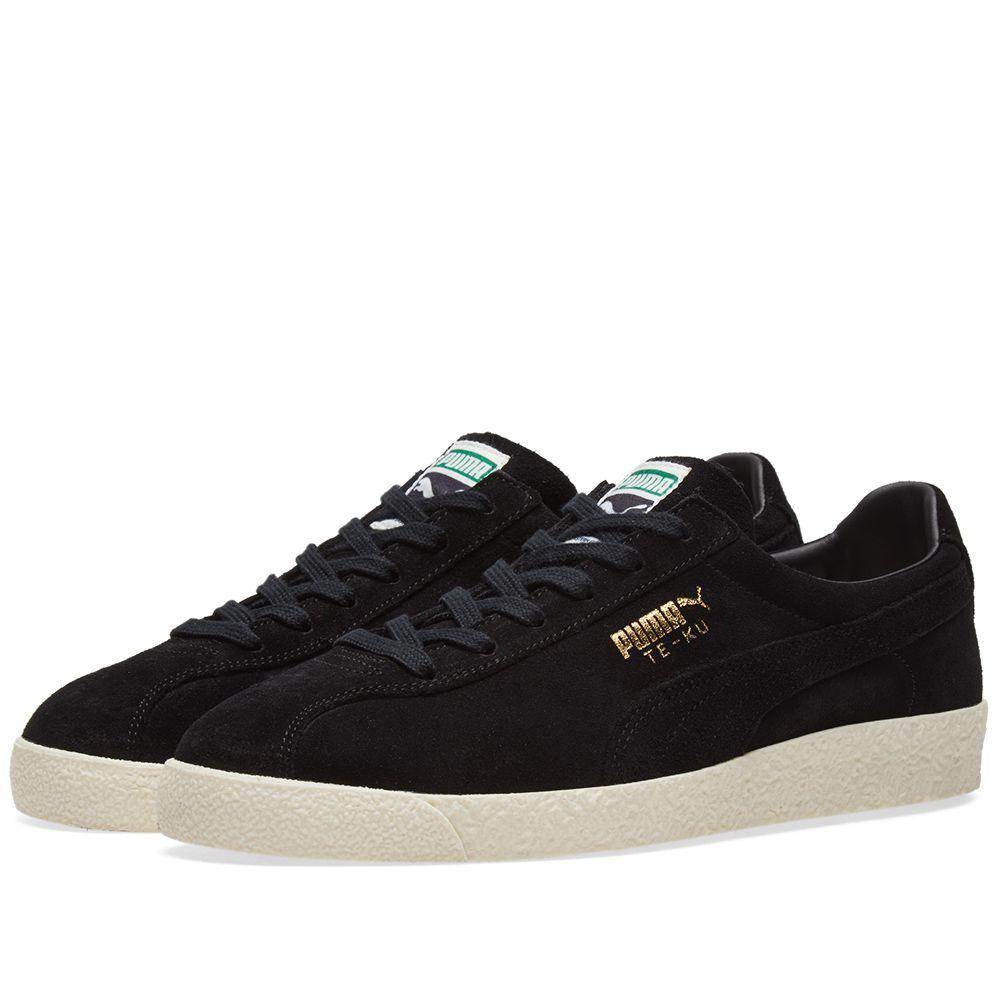 420a72874a4df1 Puma TE-KU Black   Gold Suede