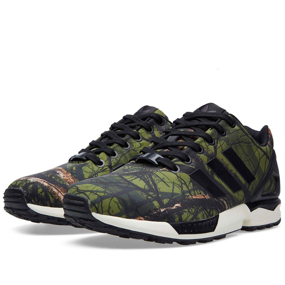 d3d76e6a44716 Adidas ZX Flux Forest Print