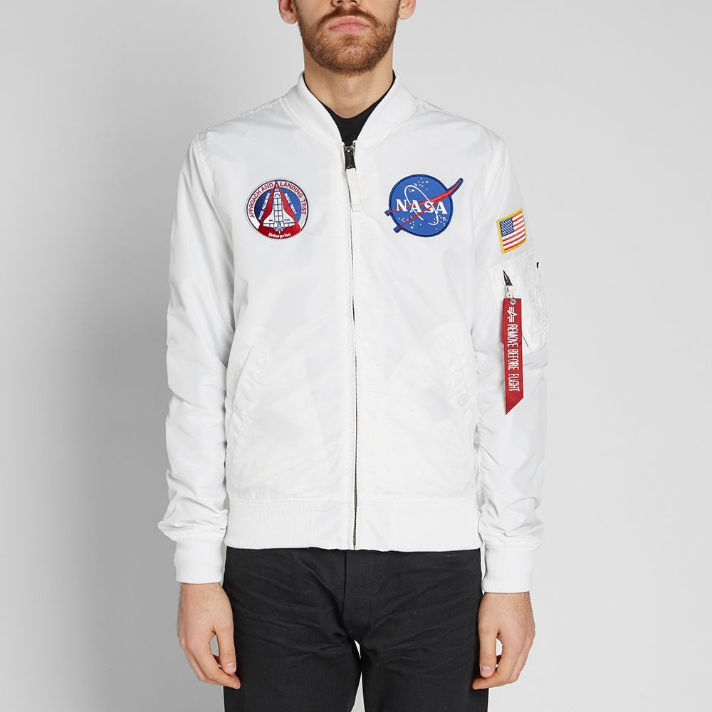 Alpha Industries MA-1 TT NASA Reversible II Jacket White   Stars  aa58bad2a1