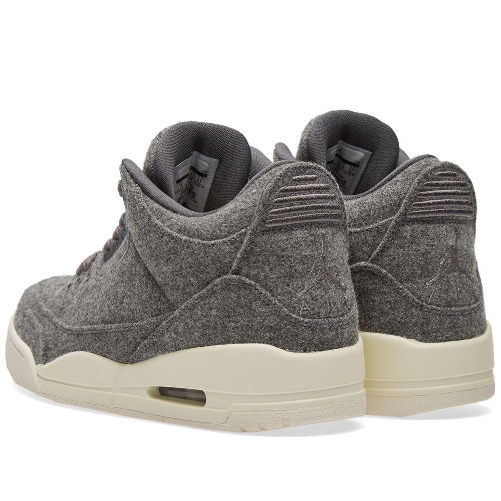 e4a43bd0fc7 Nike Air Jordan 3 Retro Wool. Dark Grey   Sail. CA 255. image. image. image