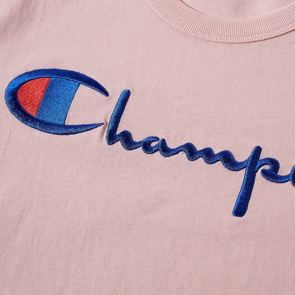 ae4c743e Champion Reverse Weave Script Logo Tee