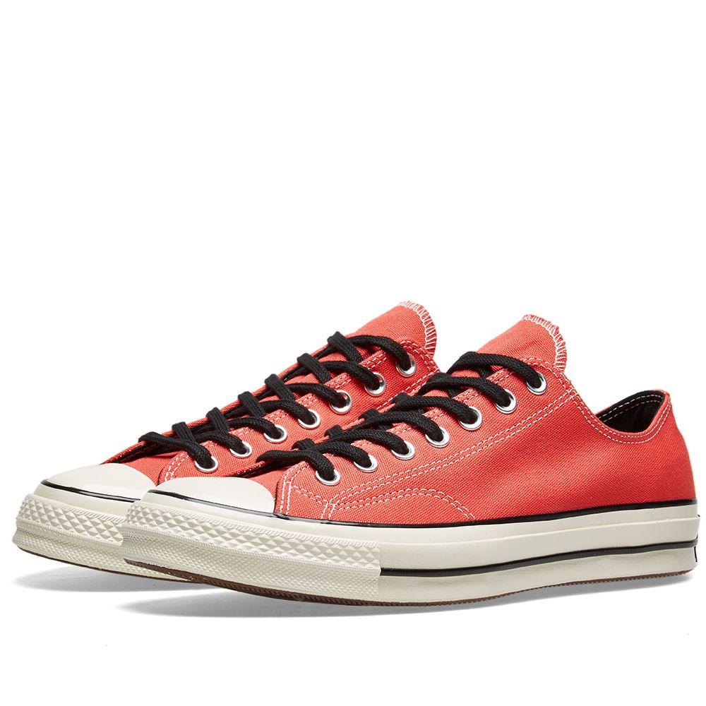 2f121b8e12a1a8 Converse Chuck Taylor 1970s Ox Canvas Sedona Red