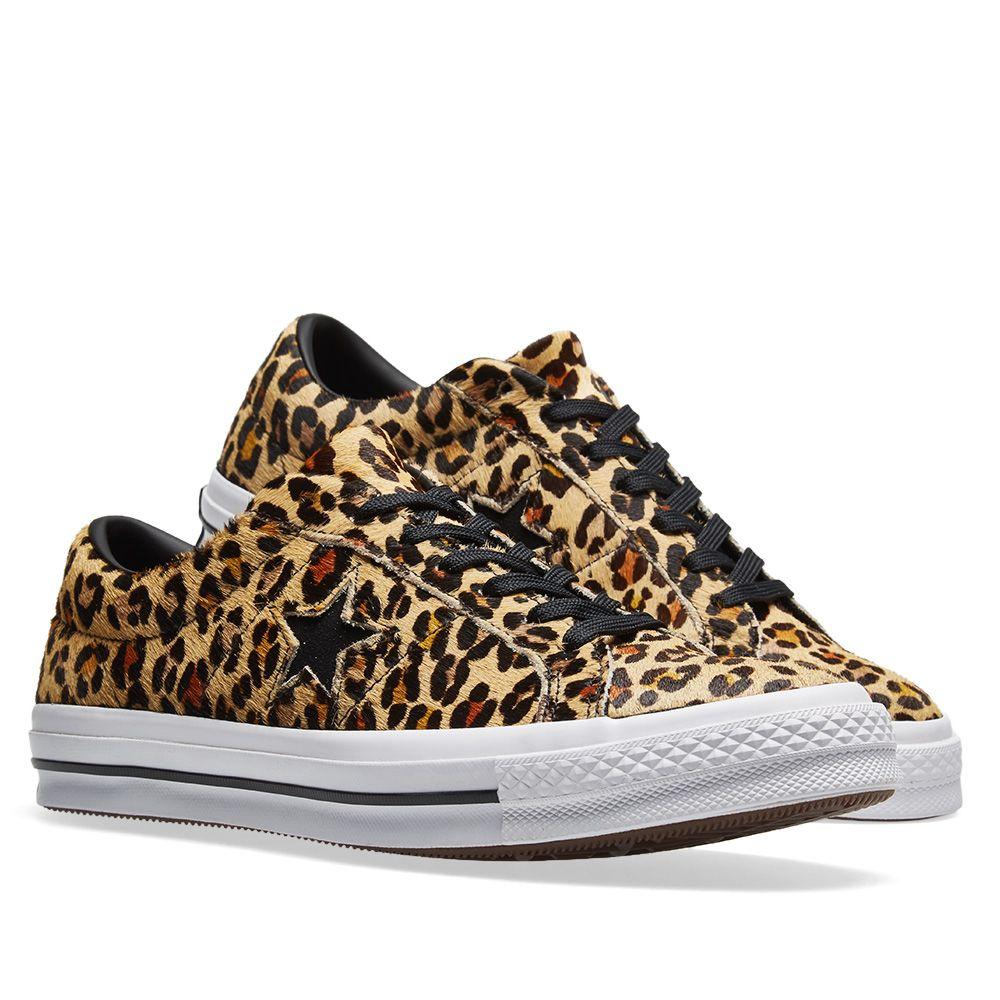 cdea9f3268b97e Converse One Star Ox Cheetah Tan   Black