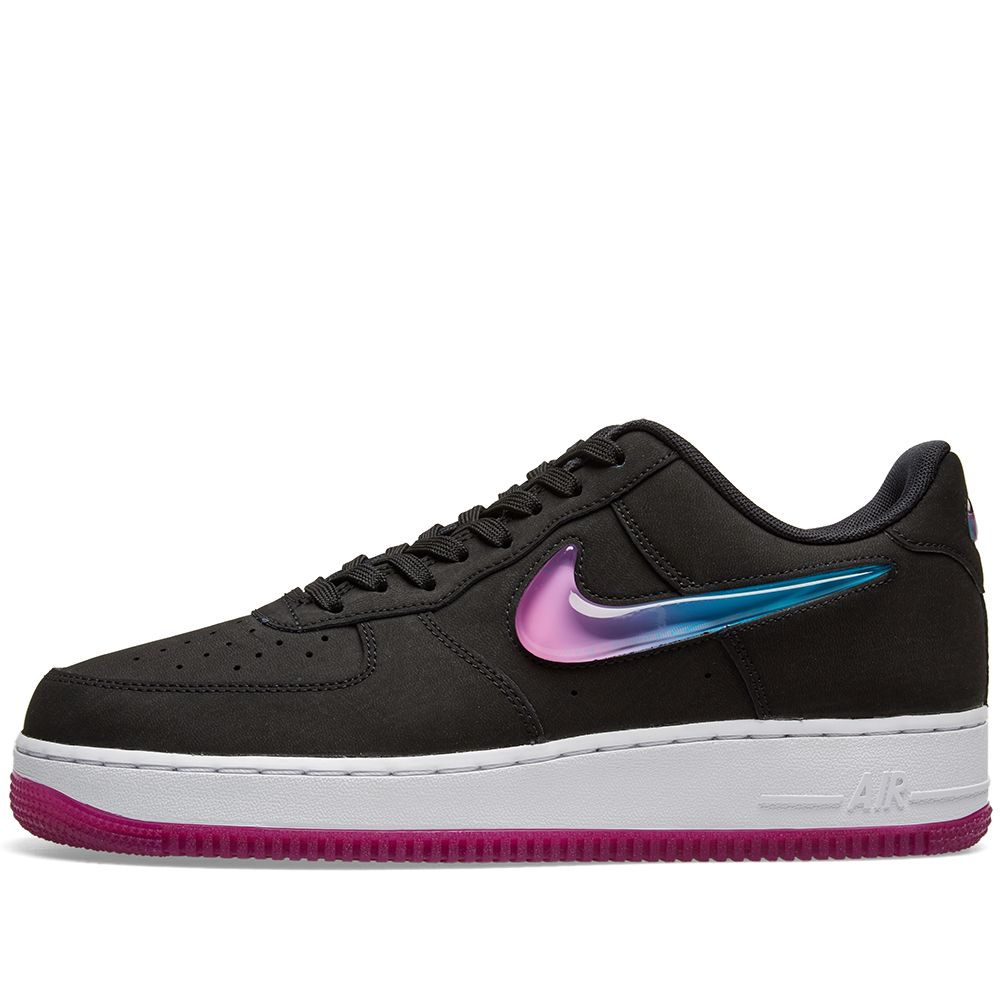 5d894ba7667 Nike Air Force 1  07 Premium 2  Jelly Swoosh  Black