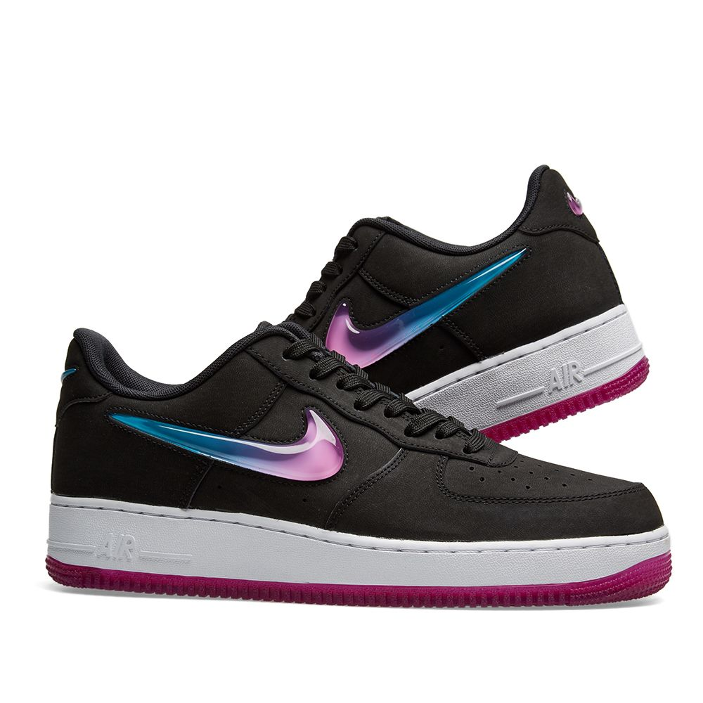 quality design fe5bf 0f24f Nike Air Force 1 07 Premium 2 Jelly Swoosh Black, Fuschia  B