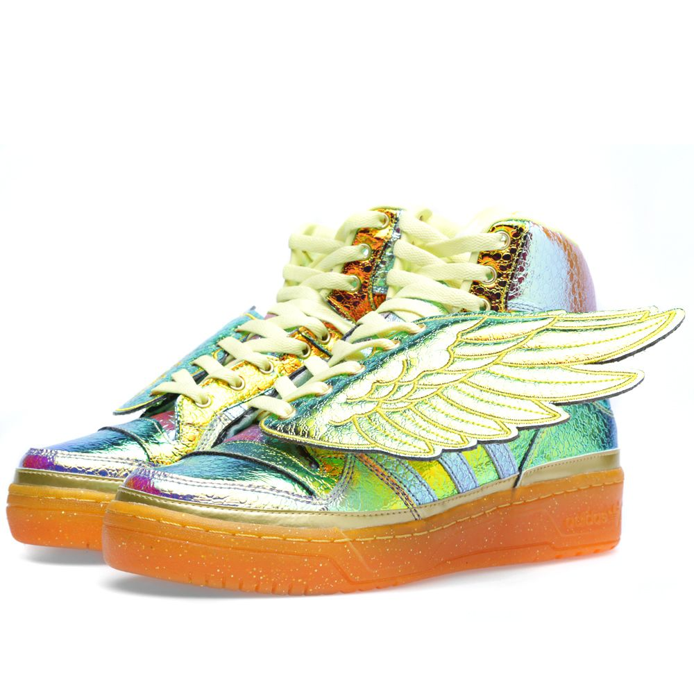 591f531c53ca Adidas ObyO x Jeremy Scott Foil Wings Metallic Gold   Pearl Citrine ...