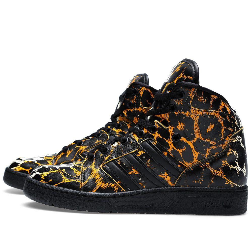 f5236d968ca9 Adidas ObyO x Jeremy Scott Instinct Hi Leopard Black