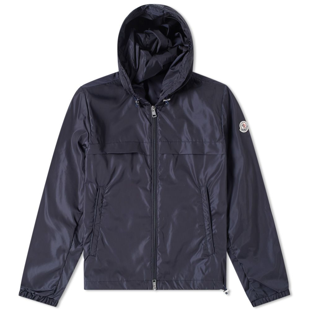 424862bc0 Moncler Gradignan Logo Double Hooded Windbreaker Navy