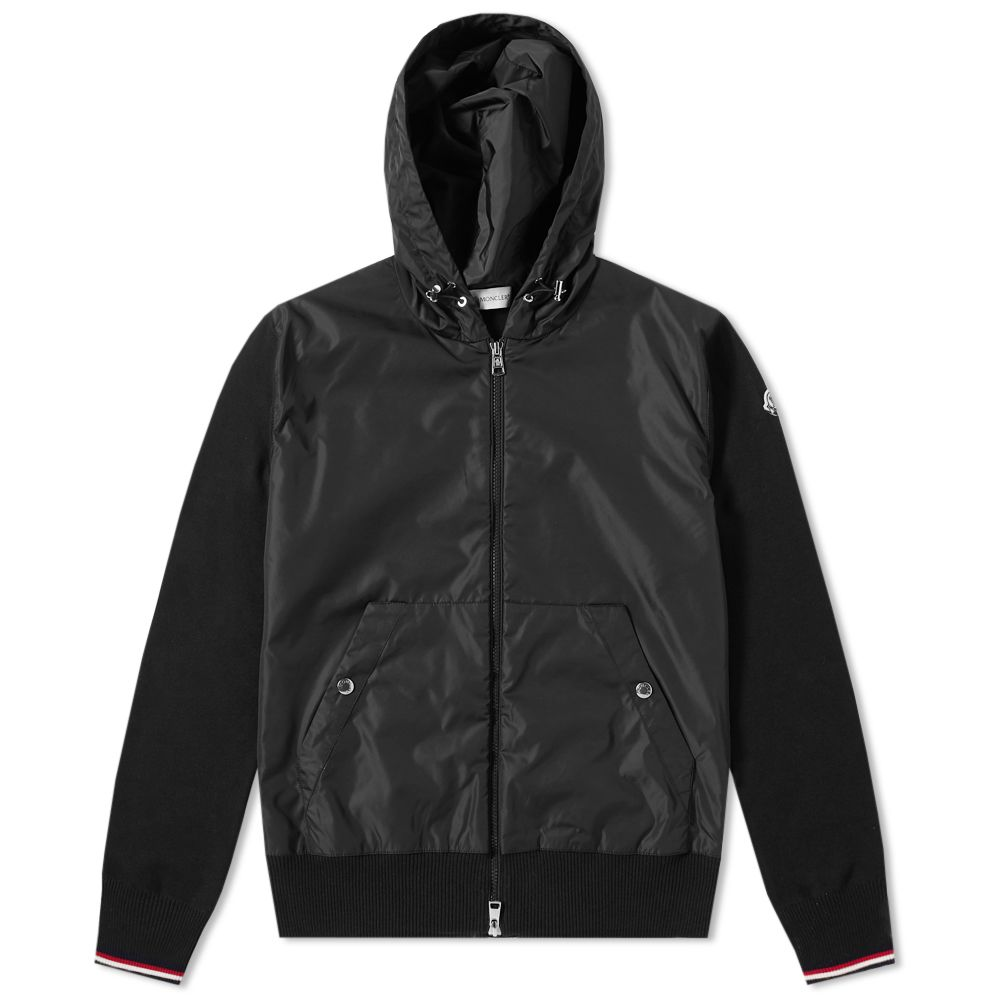 17dc81f2a Moncler Nylon Front Zip Hooded Knit Black