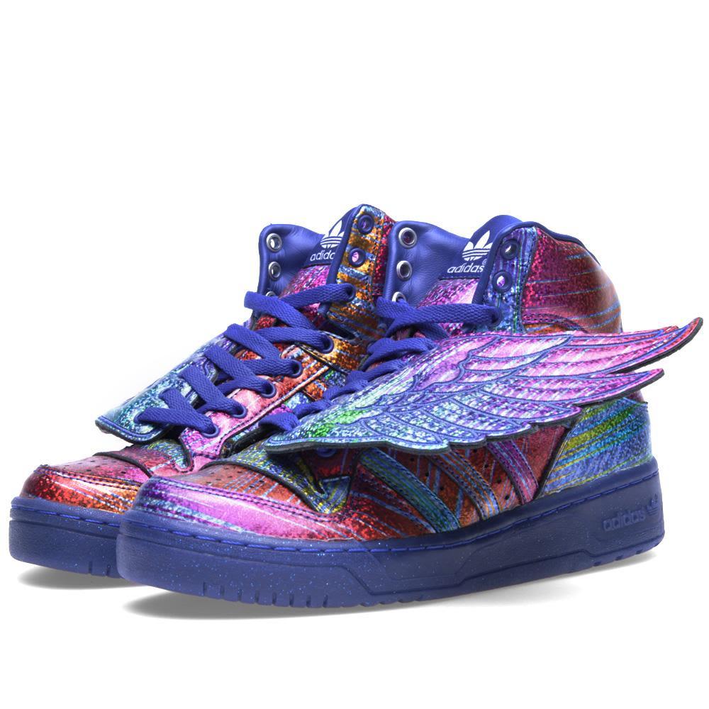 f82788b5bf2f Adidas ObyO x Jeremy Scott Wings  Rainbow Hologram  Regal Purple