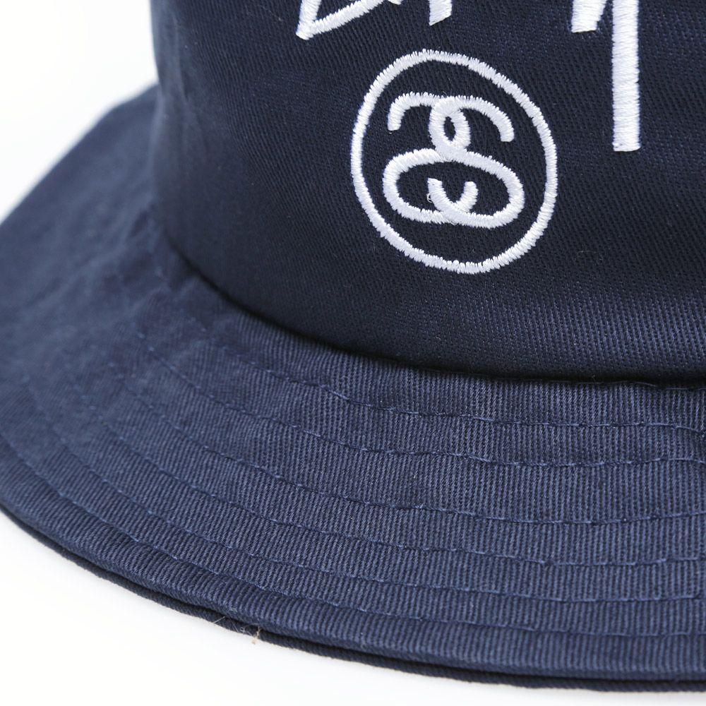 Stussy Stock Lock Bucket Hat. Navy.  59. image 0a300e481aa8