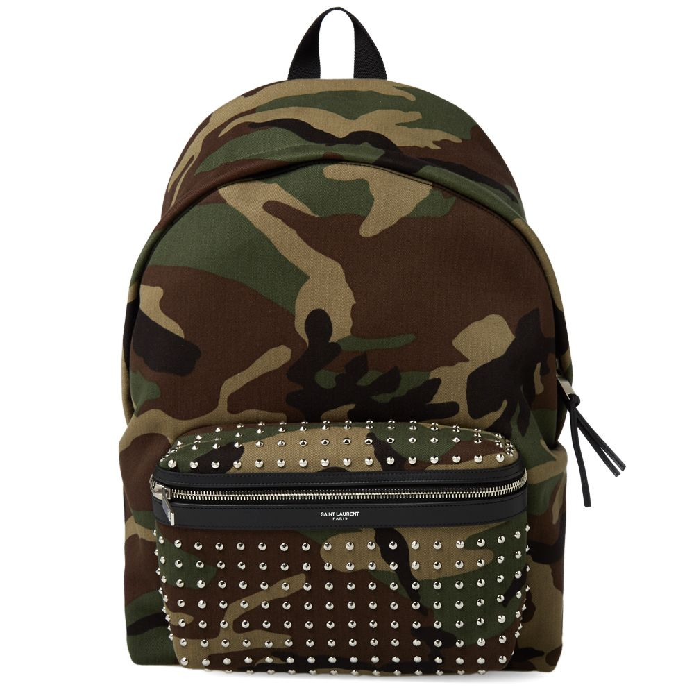 59d7bc5a998 Saint Laurent Classic Hunting Camouflage Backpack Camouflage