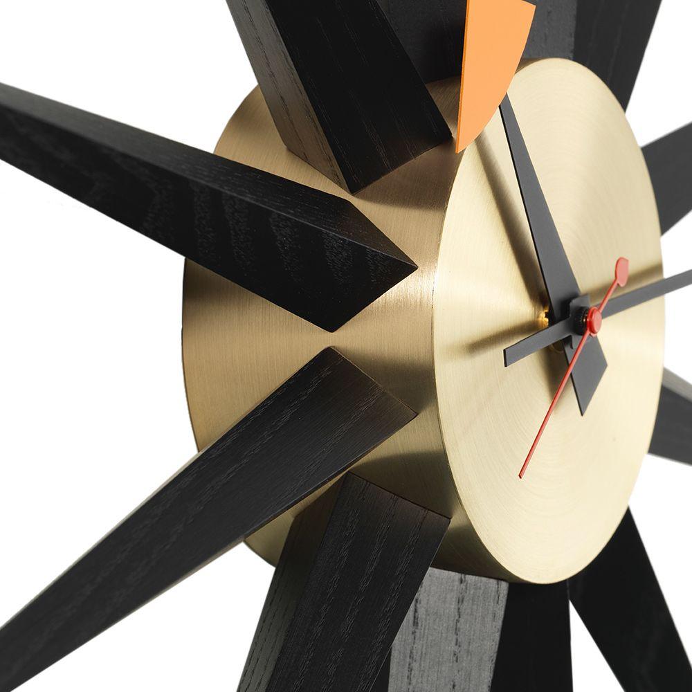 24a390338892 Vitra George Nelson Sunburst Wall Clock Brass
