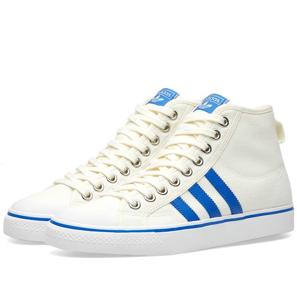 e43efff2ab24 Adidas Nizza Hi Off White   Blue