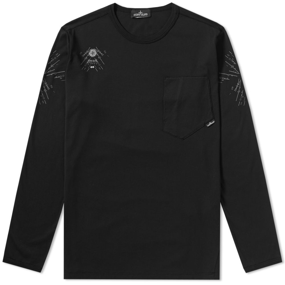a2267a05 homeStone Island Shadow Project Long Sleeve Garment Dyed Graphic Tee.  image. image. image. image. image. image. image. image. image. image.  image. image