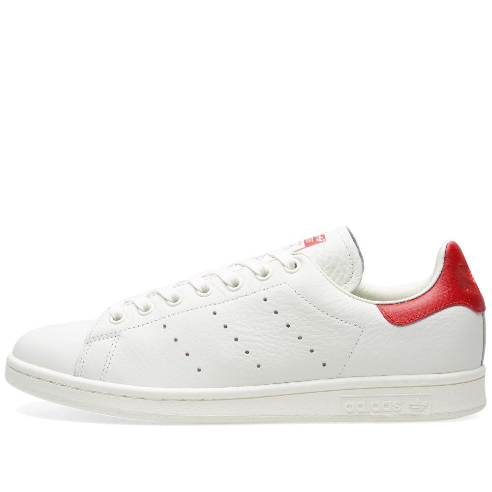Adidas Stan Smith Premium Chalk White   Scarlet  e557c0a0a