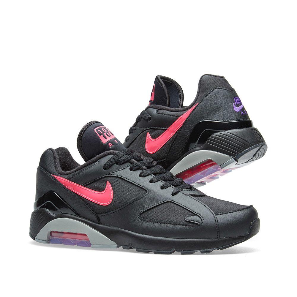 factory authentic 4e413 b9441 Nike Air Max 180 Black, Pink Blast  Grey  END.