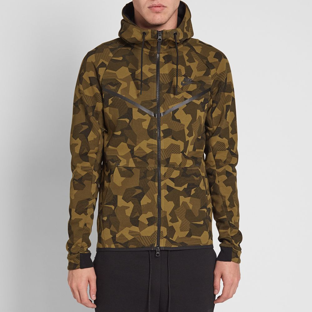 Nike Tech Fleece Camo Windrunner Olive Flak   Black  245f9aaa4
