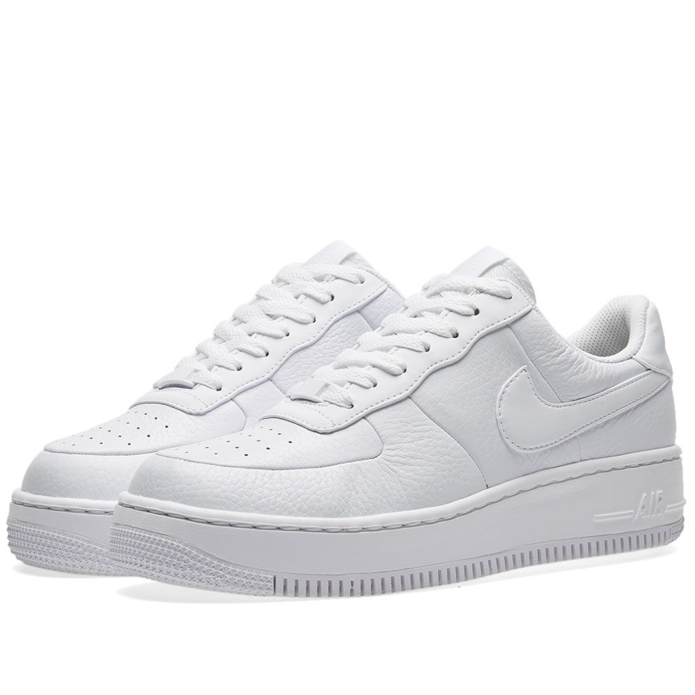 outlet store e8739 2c2b2 Nike Air Force 1 Upstep W. White  Black. S129. image