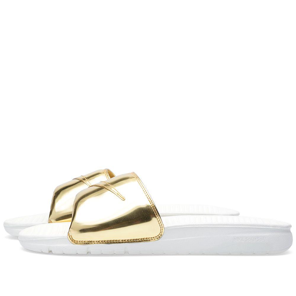 c9b39469e Nike Benassi Solarsoft Solid SP  Liquid Gold  Metallic Gold