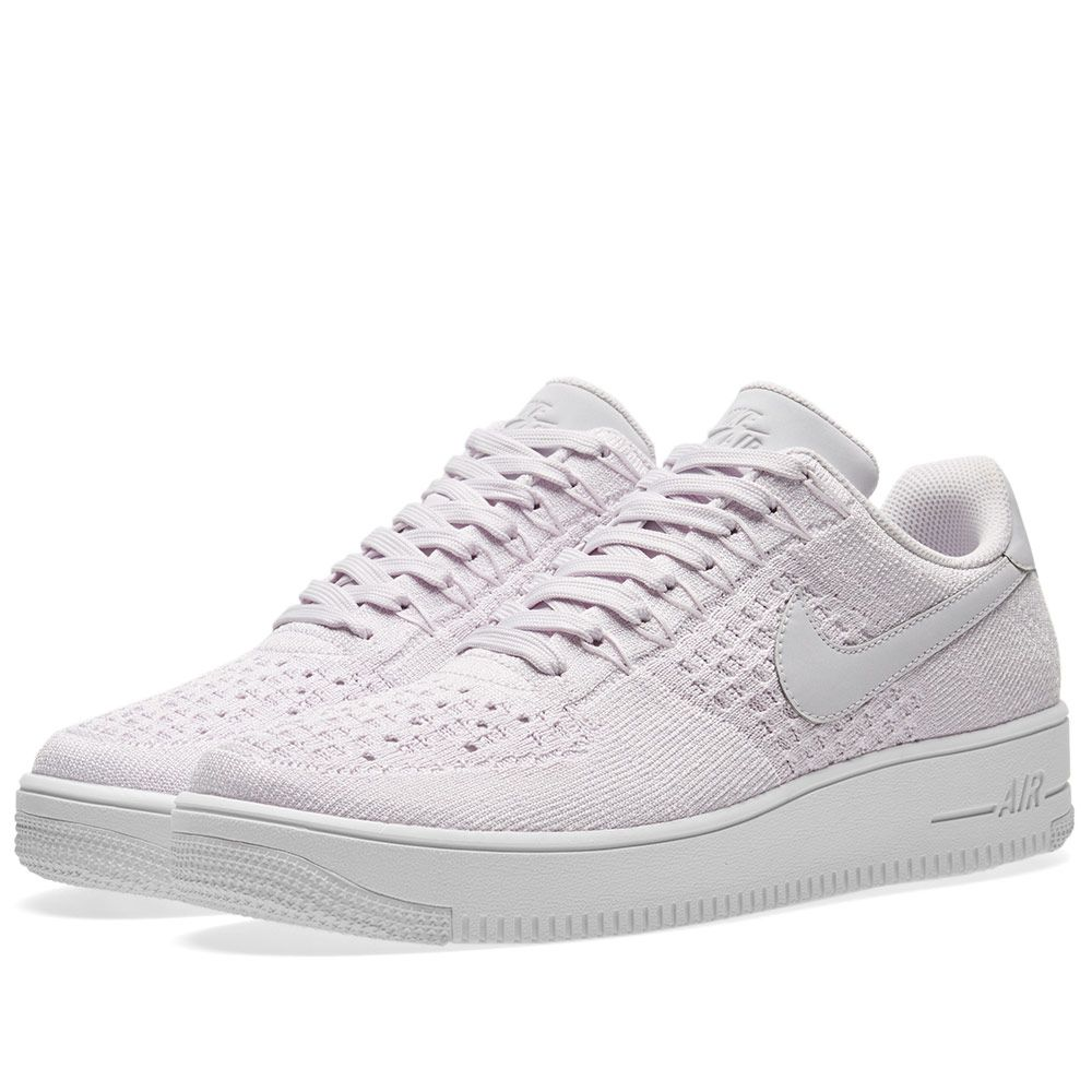 new style 98d6f eb2d2 Nike Air Force 1 Flyknit Low Light Violet   White   END.