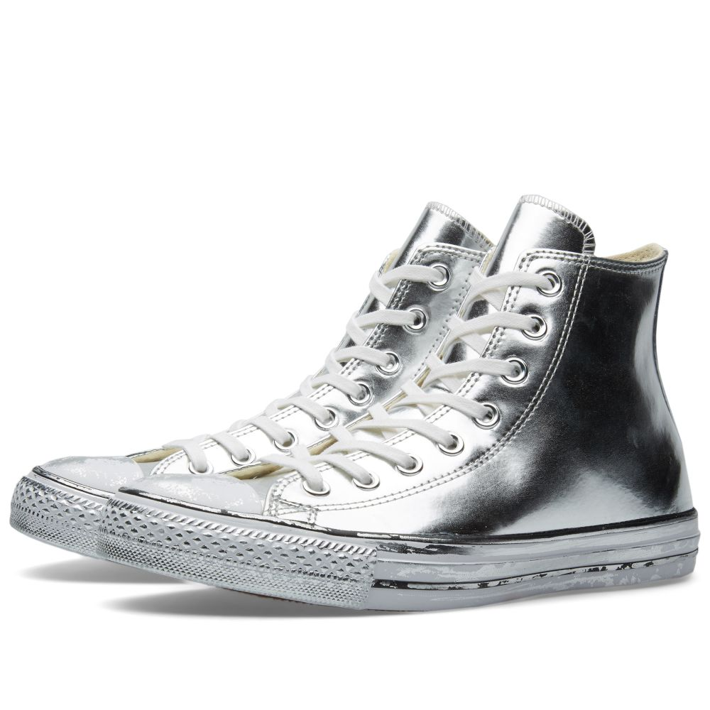 bff6924247dd3e Converse Chuck Taylor Hi Chrome Leather Silver