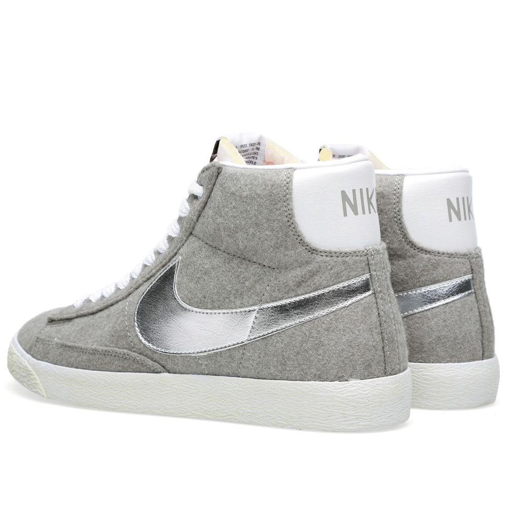 the latest cf05e a6838 Nike x Beams Blazer Mid PRM VNTG QS Granite  Metallic Silver