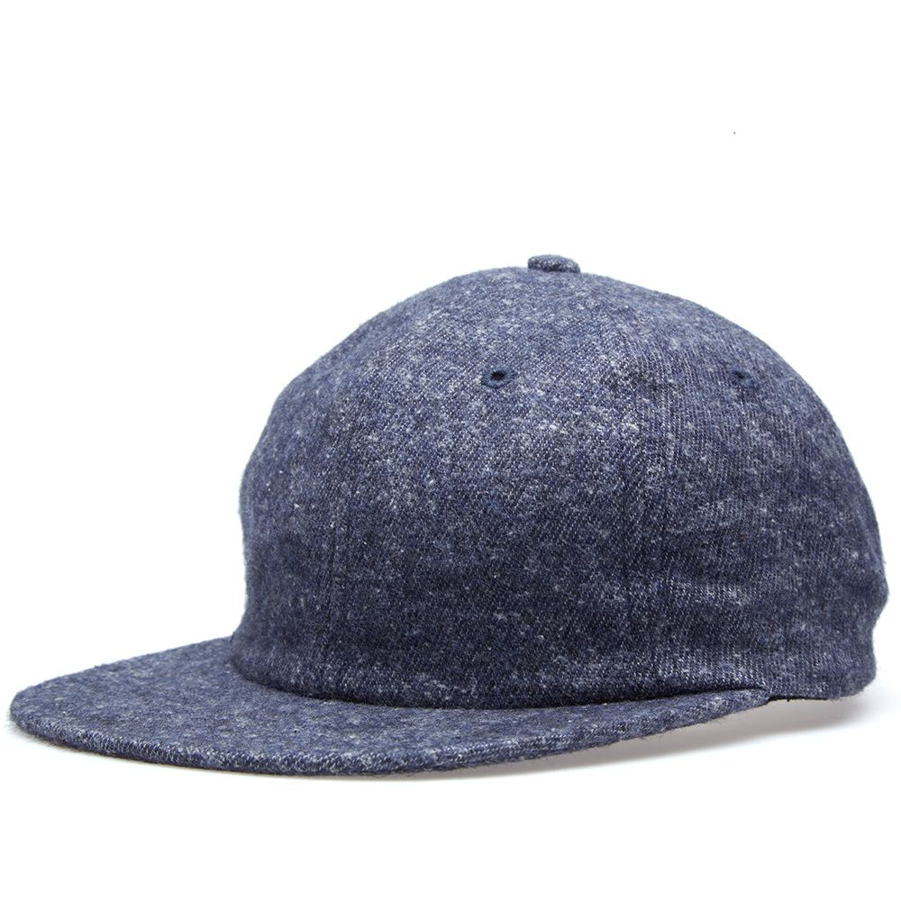 3941cfad30b Norse Projects 6 Panel Brushed Wool Melange Cap Dark Navy