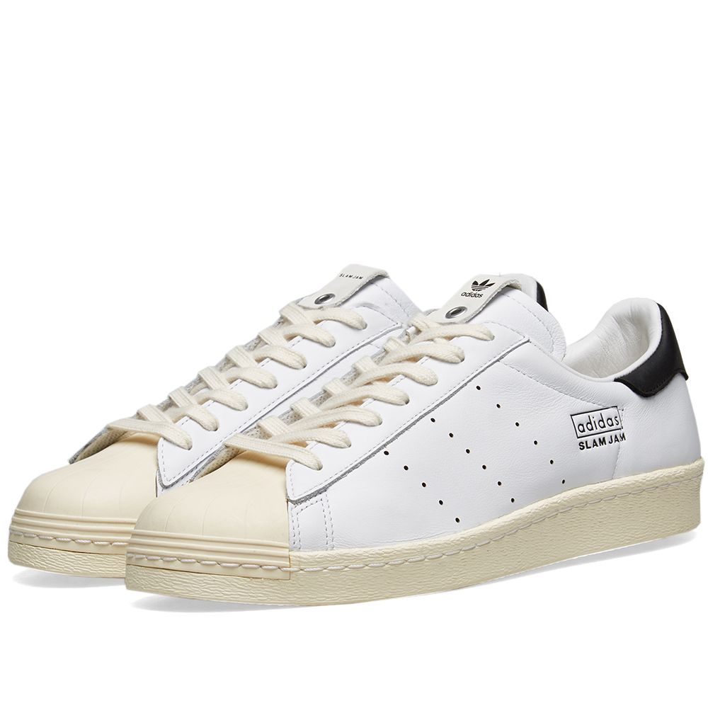 new product 4fc06 29287 Adidas Consortium x Slam Jam Superstar 80s White  END.