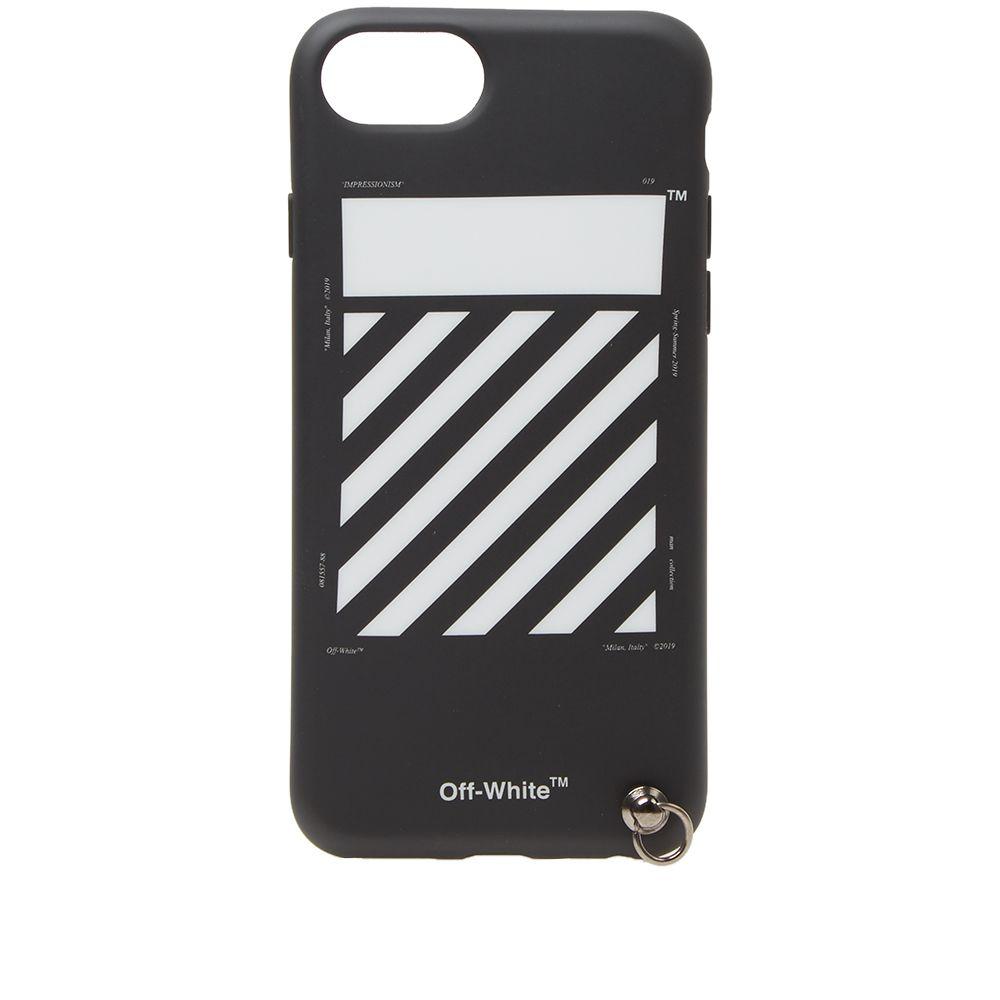 07552e380656 Off-White Diagionals iPhone 8 Cover with Strap Black   White