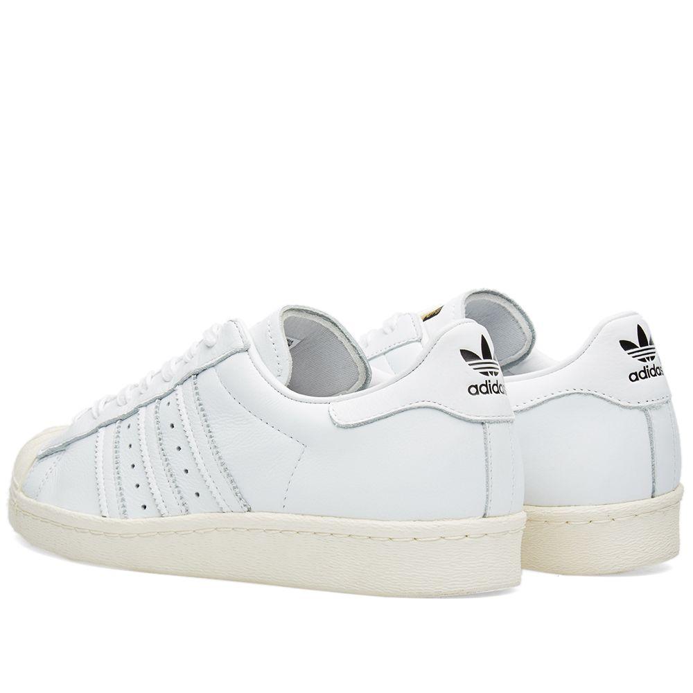7835c4dcd9da47 Adidas Superstar 80s DLX White   Cream