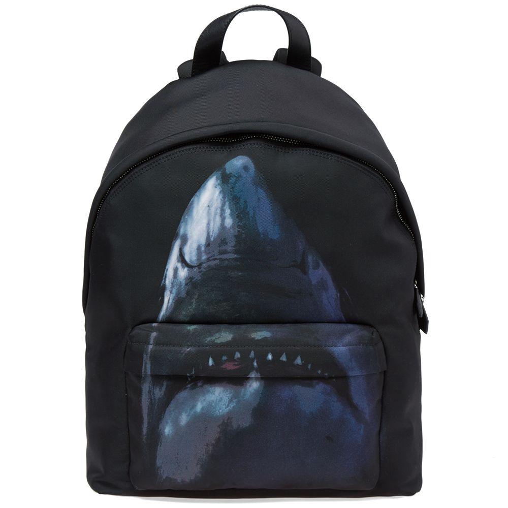 c58c77c7a51f Givenchy Shark Print Cordura Backpack Black Multi